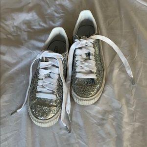 Silver Glitter Puma Sneakers